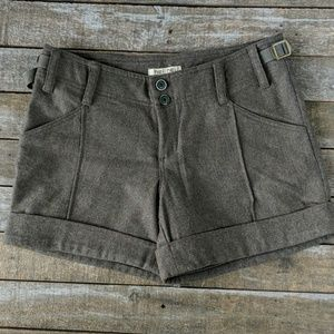 Anthropologie Hei Hei wool cuffed shorts 6